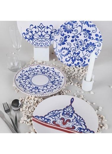 Keramika Keramika Blue Palace Servis Tabağı 25 Cm 4 Adet - 18925-27-28-44 Renkli